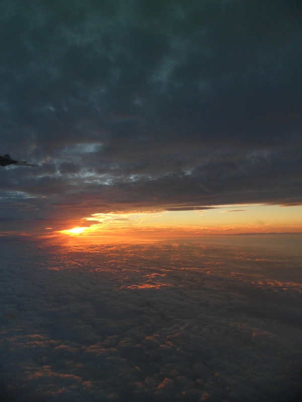 Sunrise from the early morning Glasgow flight