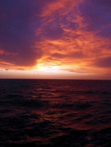 Sunrise on the Irish Sea