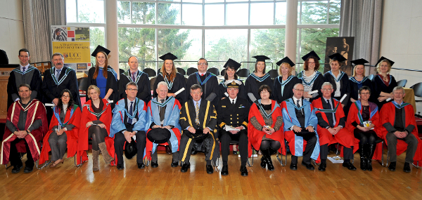 The first graduating class of the MSc Organic Horticulture