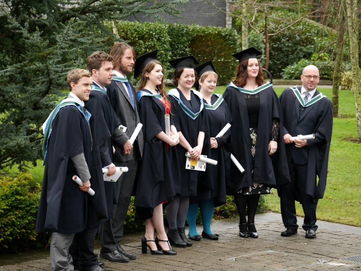 Some of the recent graduates from the MSc Organic Horticulture at the University College Cork Spring conferring ceremony (Photo by Tomás Tyner, UCC)
