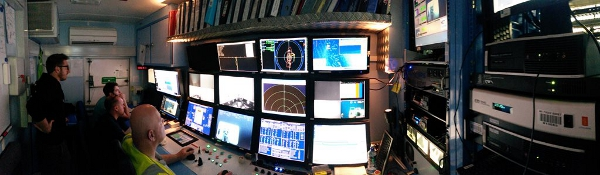 ROV Control room (it's a tight fit!)