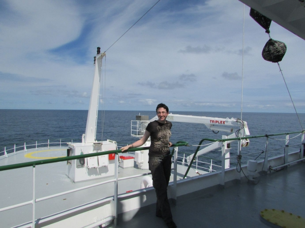 Niamh Connolly (myself) on-board the RV Celtic Explorer!