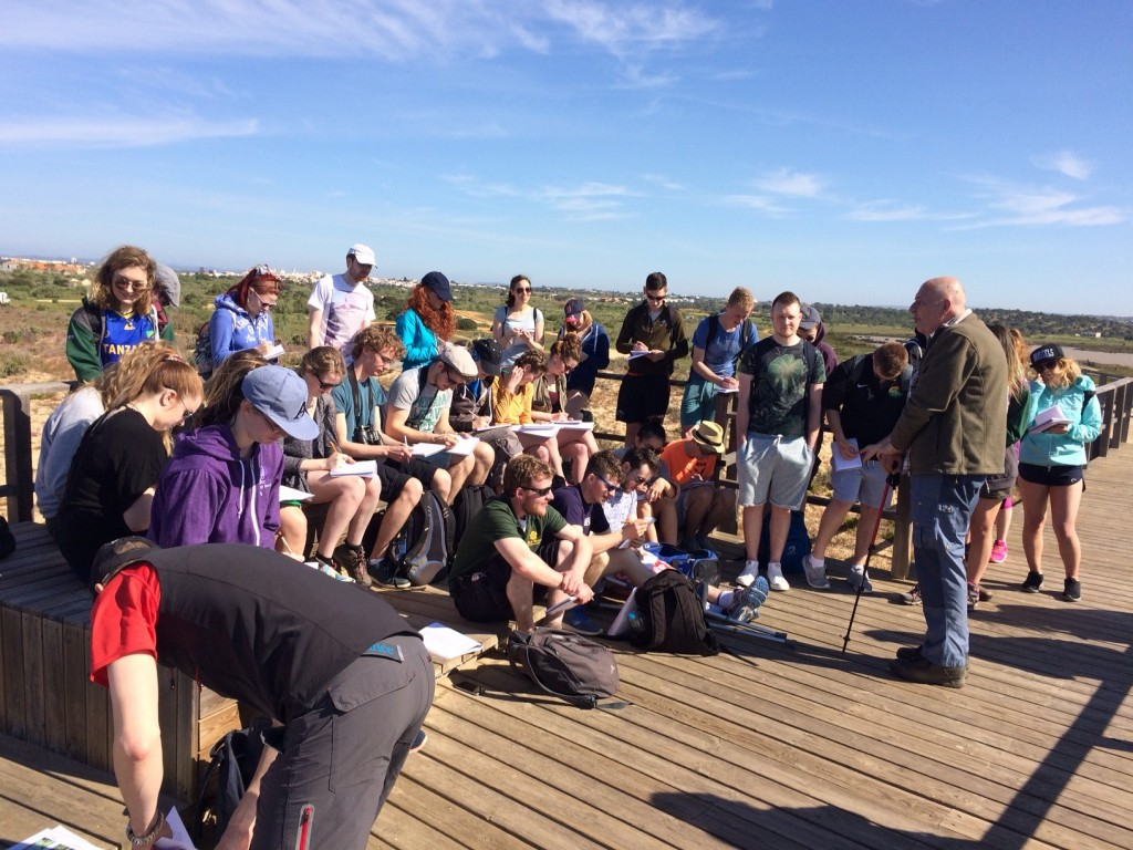 The Sermon on the Mount. Prof Matthijs Schouten lectures the BEES field course students on the Algarvian ecosystems.