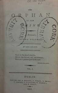 Title page from Vol. 1 of The Orphan of The Rhine