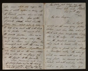 BP/1/6 Boole's first letter home