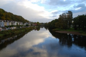 View from the bridge over the River Lee at Western Road and the Mardyke Arena