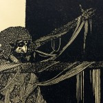 """Harry Clarke's illustration of Madeline Usher from """"The Fall of the House of Usher."""""""