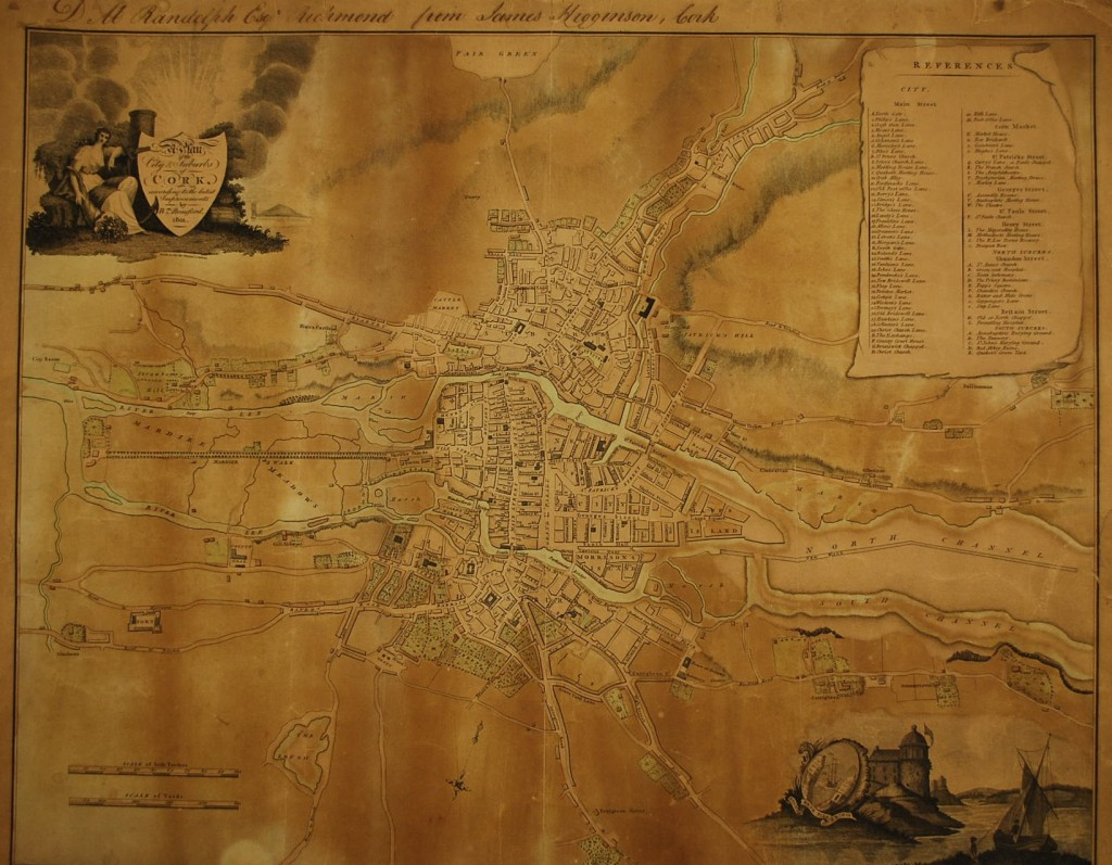 Beauford's Map of Cork, 1801.