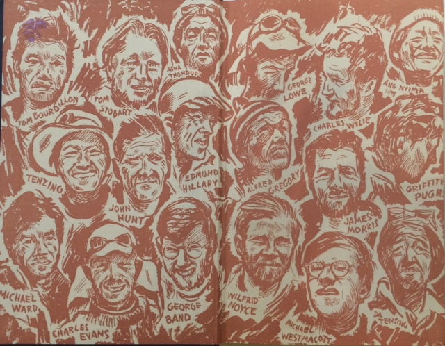 Team members on South Col endpapers