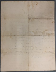 Reverse of letter conserved