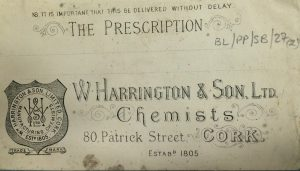 Envelope for Harrington Chemists, Cork