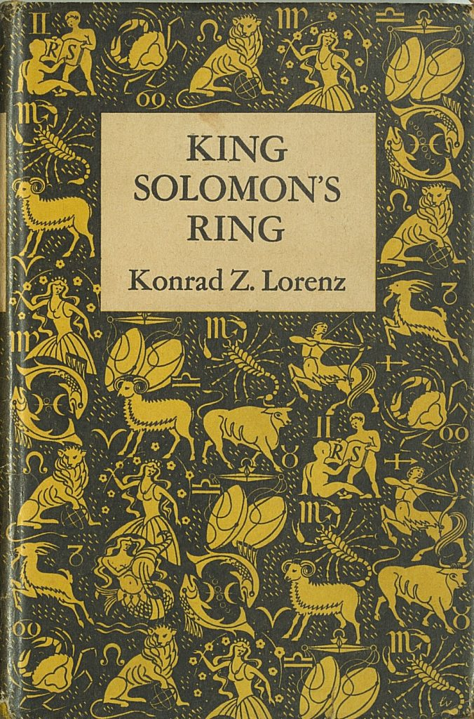 Dust-jacket to King Solomon's Ring, Lunan Collection, Special Collections, UCC Library.