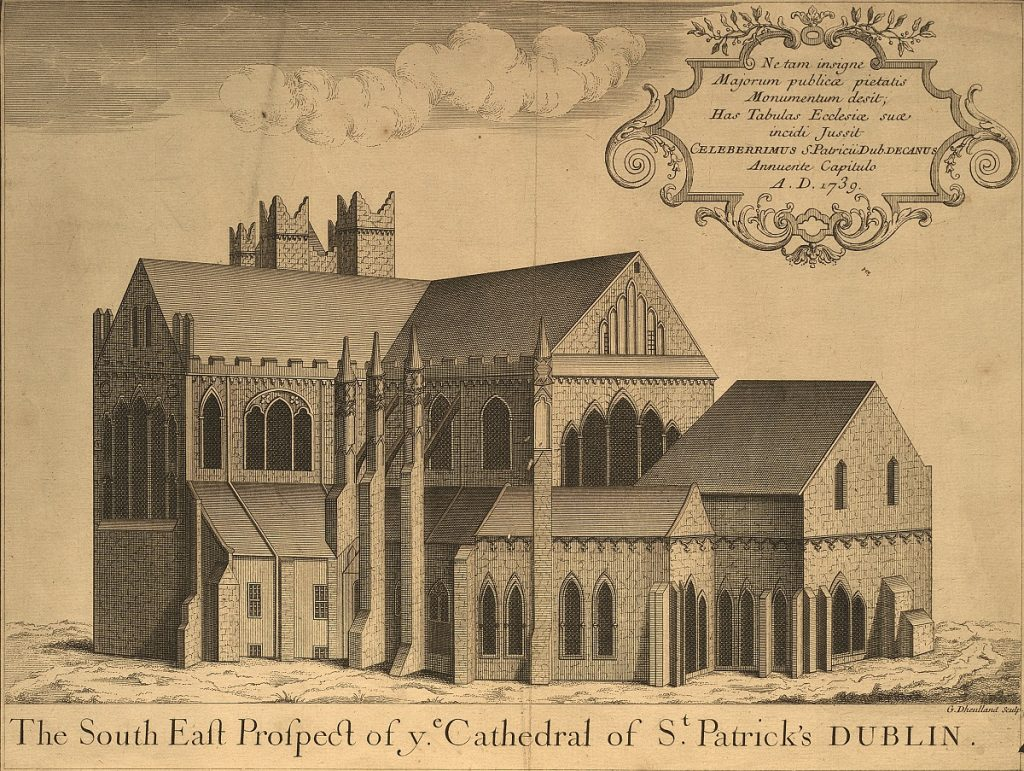 Topographical Prints: The South East Prospect of Ye Cathedral of St. Patrick's Dublin