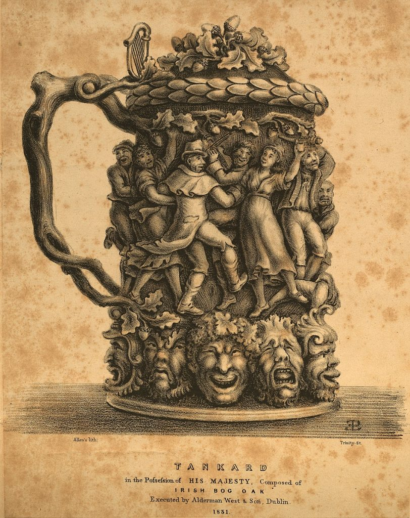 Topographical Prints: Tankard in the Possession of His Majesty, Composed of Irish Bog Oak