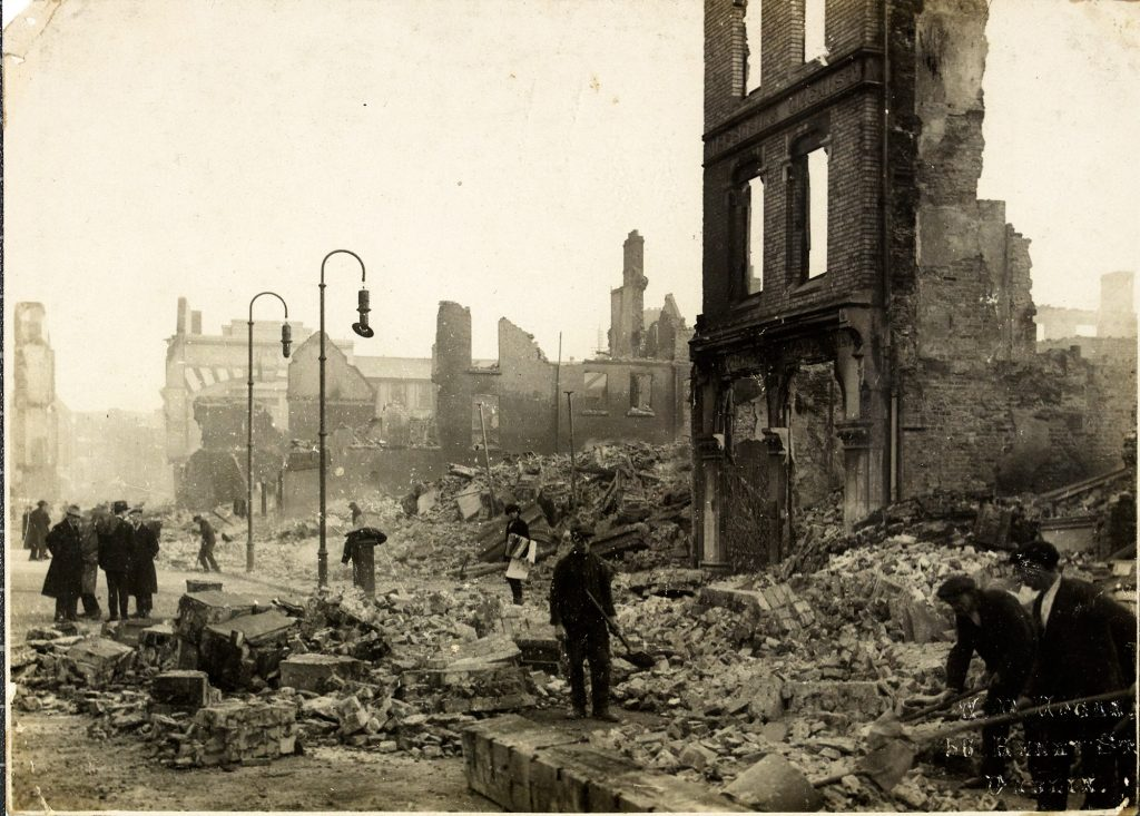 Image showing St. Patrick Street burned out ruins following the Burning of Cork in 1920.