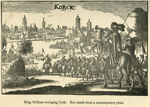 Image showing Cork besieged by Williamite forces in 1690.