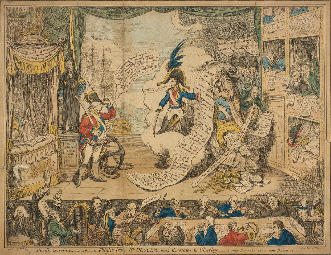 BL/CV/PolP/N/12 Pacific Overtures - or - a Flight from St Cloud's - over the Water to Charley - a new Dramatic Peace now Rehearsing (5 April 1806)