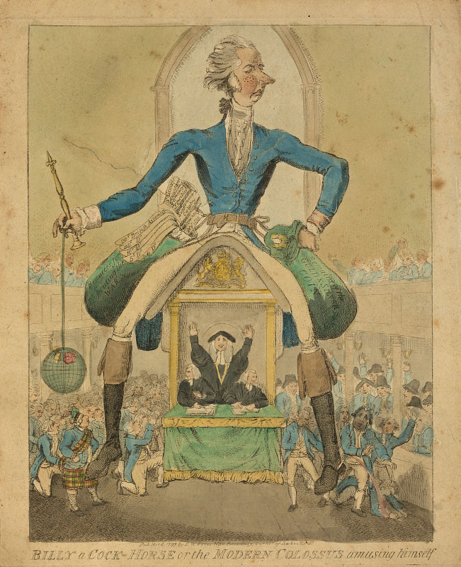 BL/CV/PolP/N/2 Billy a cock-horse or the modern colossus amusing himself (8 March 1797)