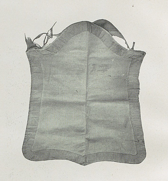 Lady's masonic apron held by the Provincial Grand Lodge of Munster showing an apron of the Fellowcraft.